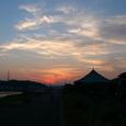 横浜鶴見川の夕焼け